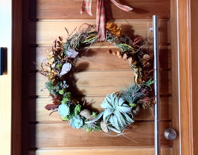 Living wreath warm fall