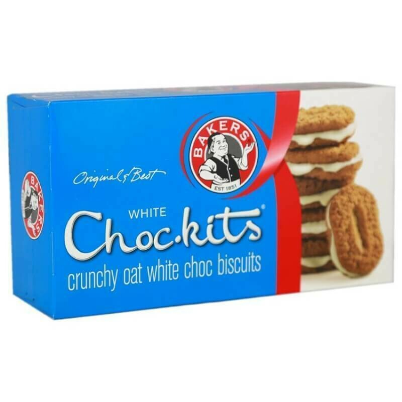 Bakers ChocKits White Chocolate 200g