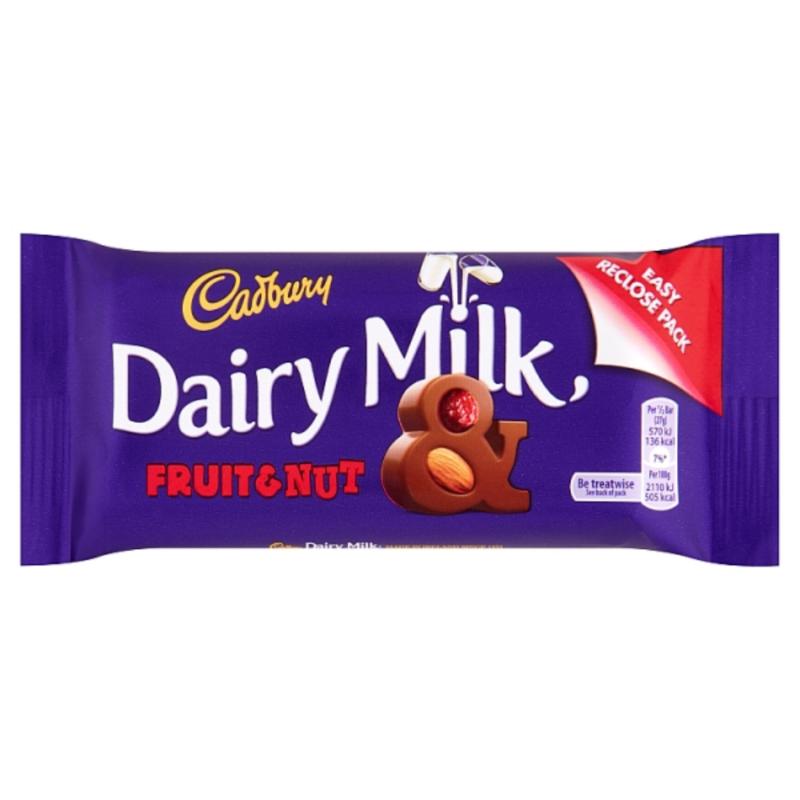 Cadbury Fruit & Nut 54g Bar