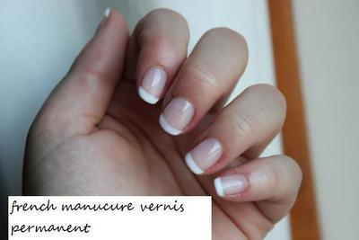 French manucure vernis permanent