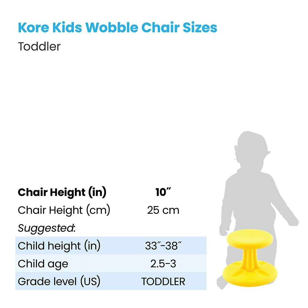 """KORE Toddlers Wobble Chair 10"""" (幼兒)"""