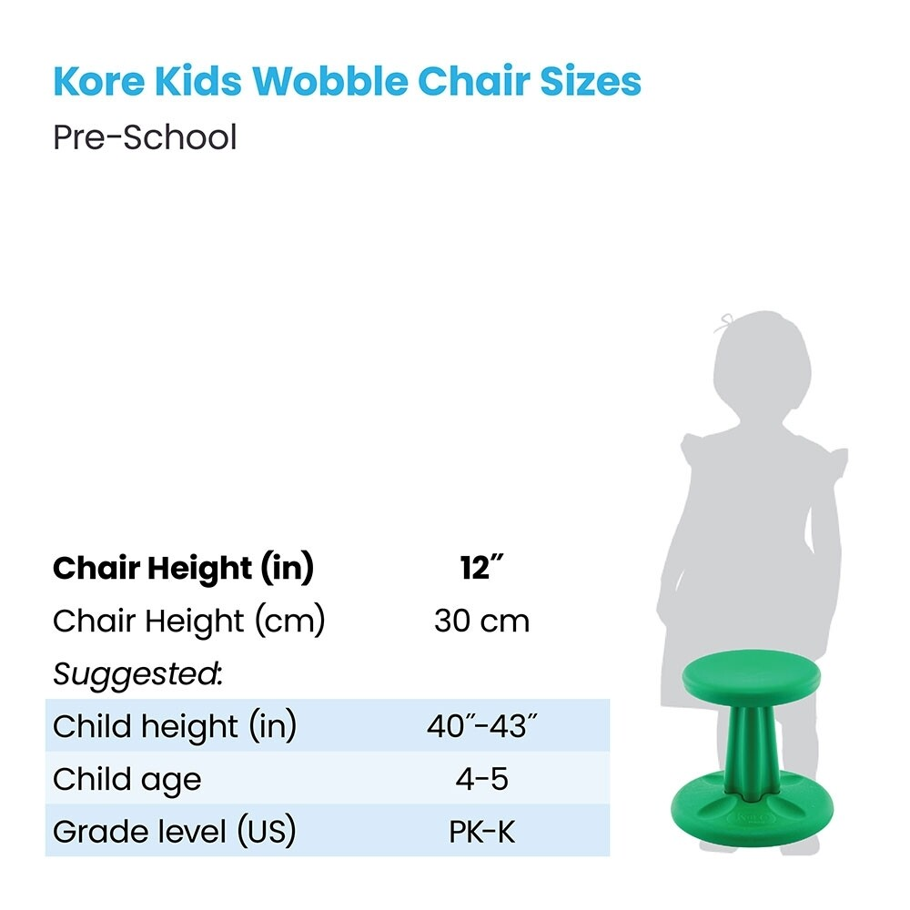 "KORE Preschool Wobble Chair 12"" (學前)"