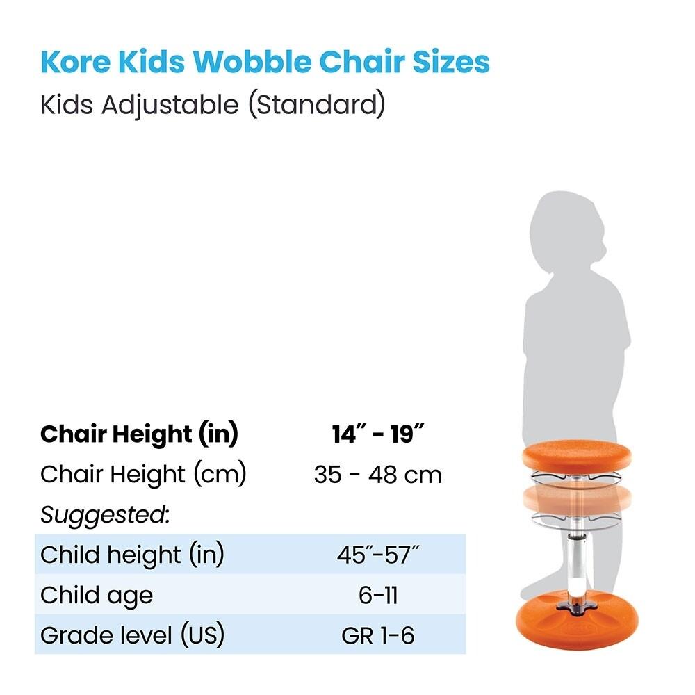 "KORE Kids Adjustable Standard Wobble Chair 14"" - 19"""