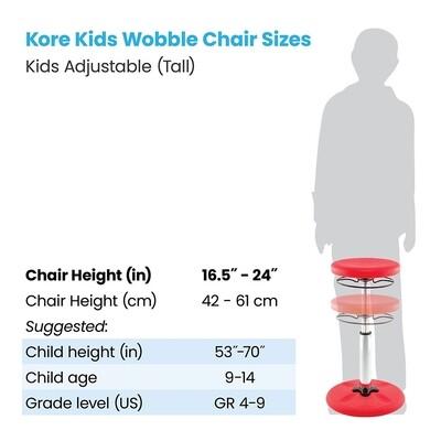 KORE Kids Adjustable Tall Wobble Chair 16.5