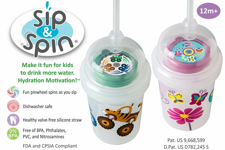 Sip & Spin: Fun Drinking Straw (Safari)