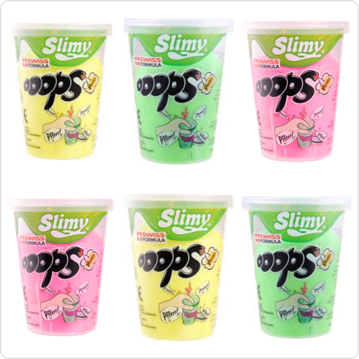 Slimy Ooops (Noise Putty/ Mega) 6 cups set