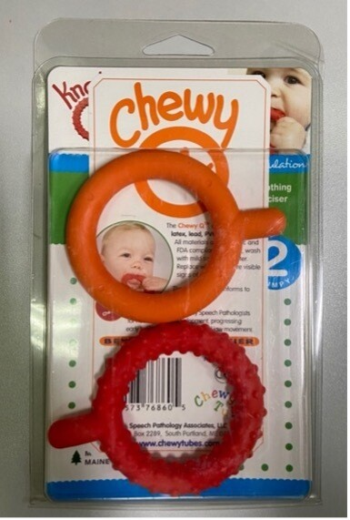 Knobby Chewy Qs - Set of 2 (Orange & Red)