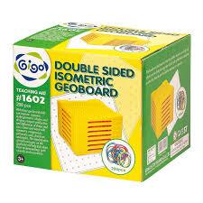 Gigo 11x11 Double Sided Isometric Geoboard Set (11x11 雙面幾何釘板套裝)