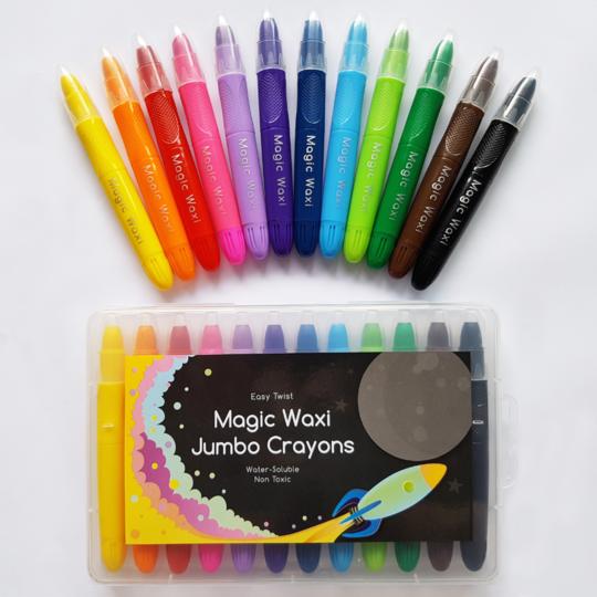 Magic Waxi™ Jumbo Gel Crayons (Pack of 12)