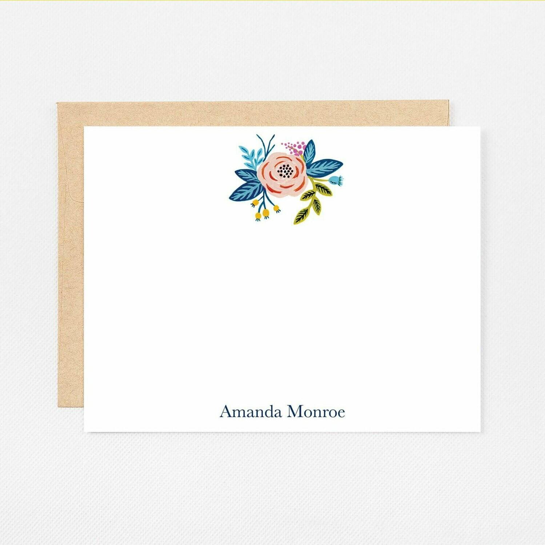 Rose Bouquet Flat Notecards