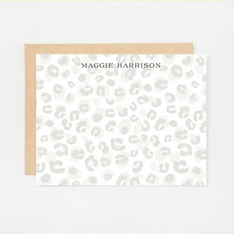 Leopard Print Flat Notecards