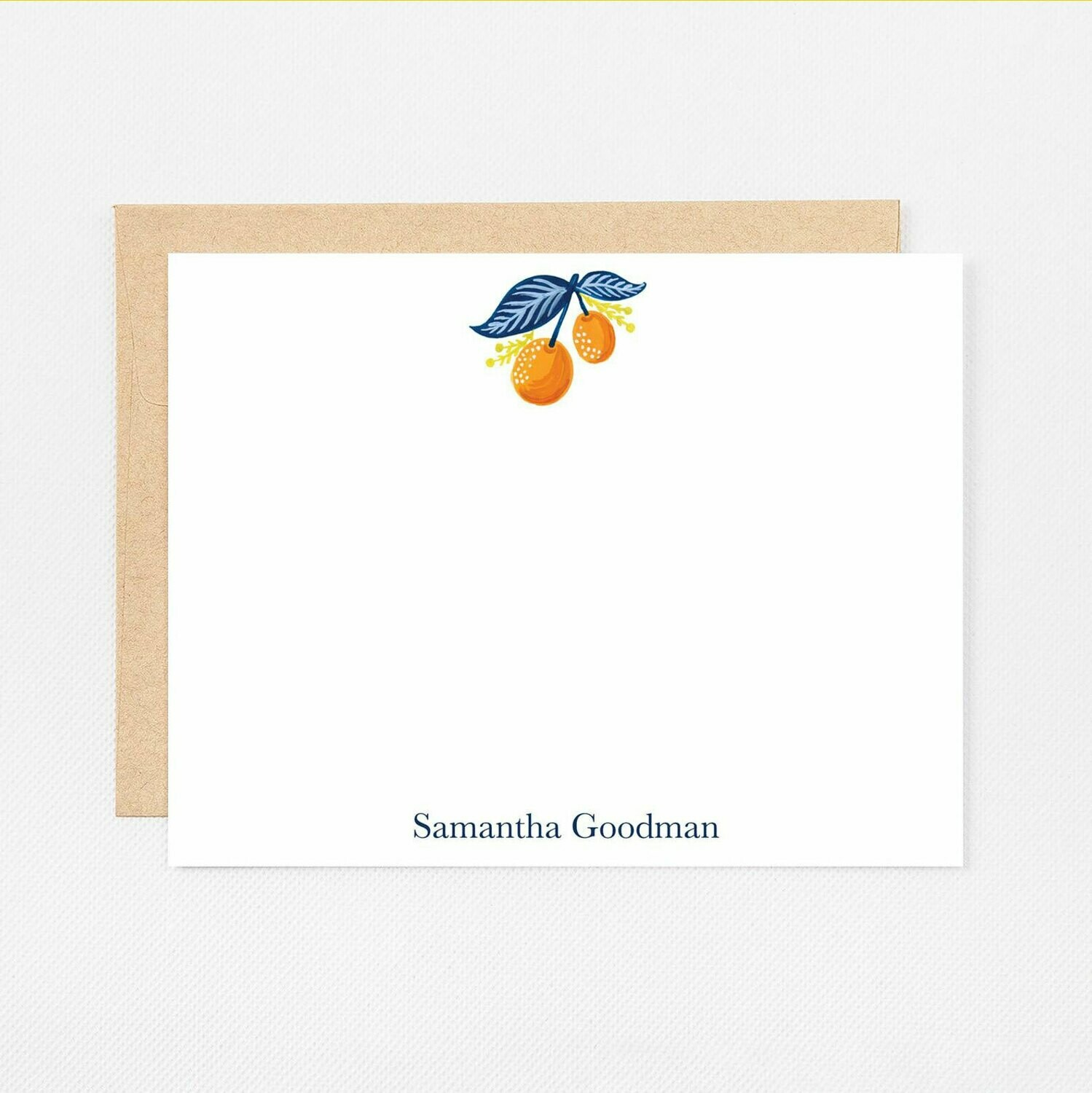 Two Oranges Flat Notecards