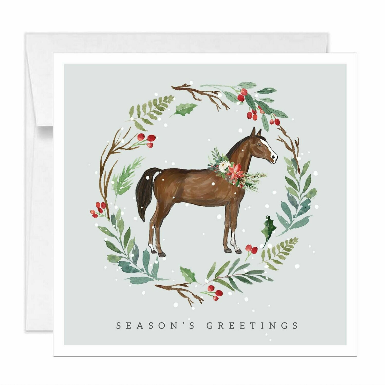 Square Horse Equestrian Holiday Card