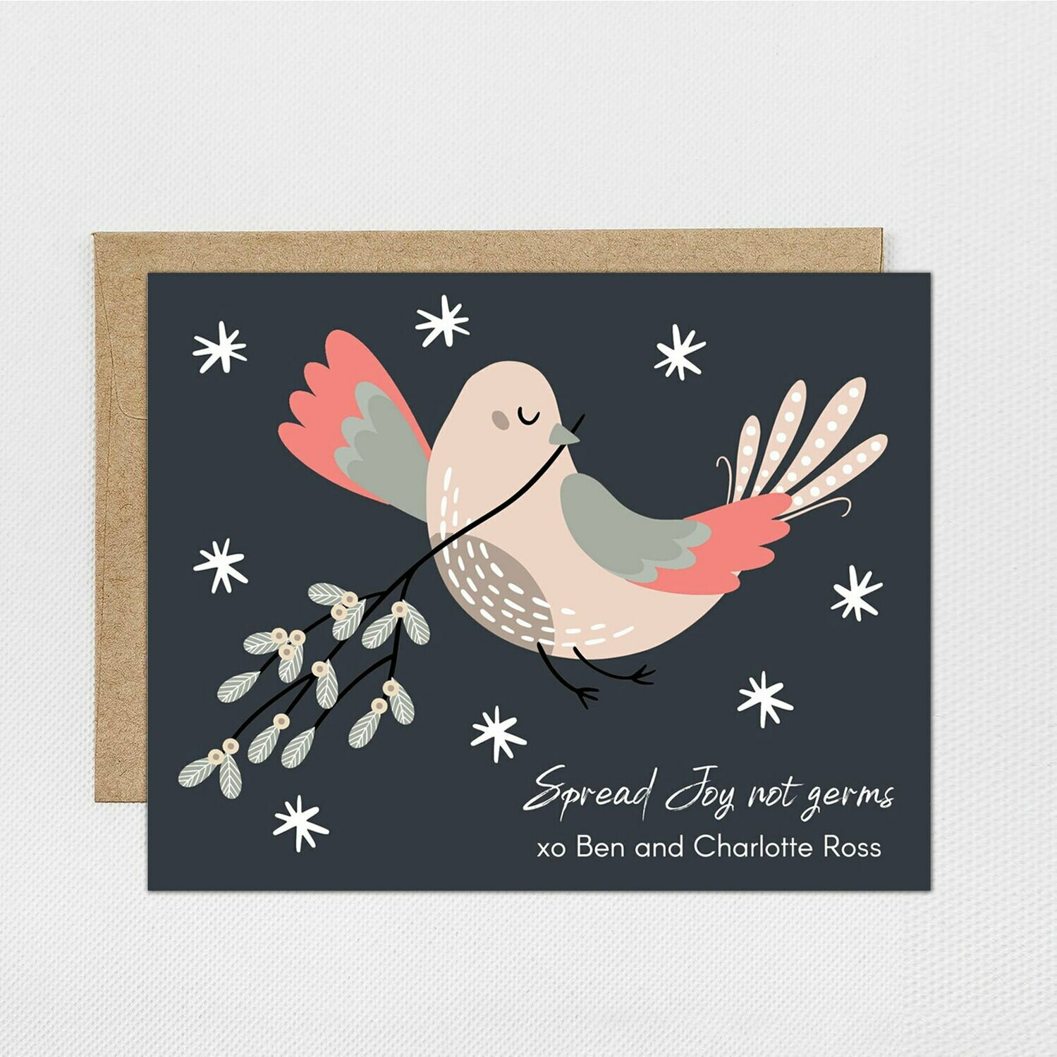 Christmas Holiday Dove Peace Card - Digital or Printed