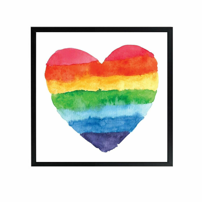 Rainbow Heart Wall Art DIGITAL DOWNLOAD PRINT