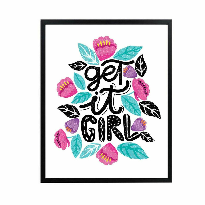 Get it Girl Wall Art DIGITAL DOWNLOAD PRINT
