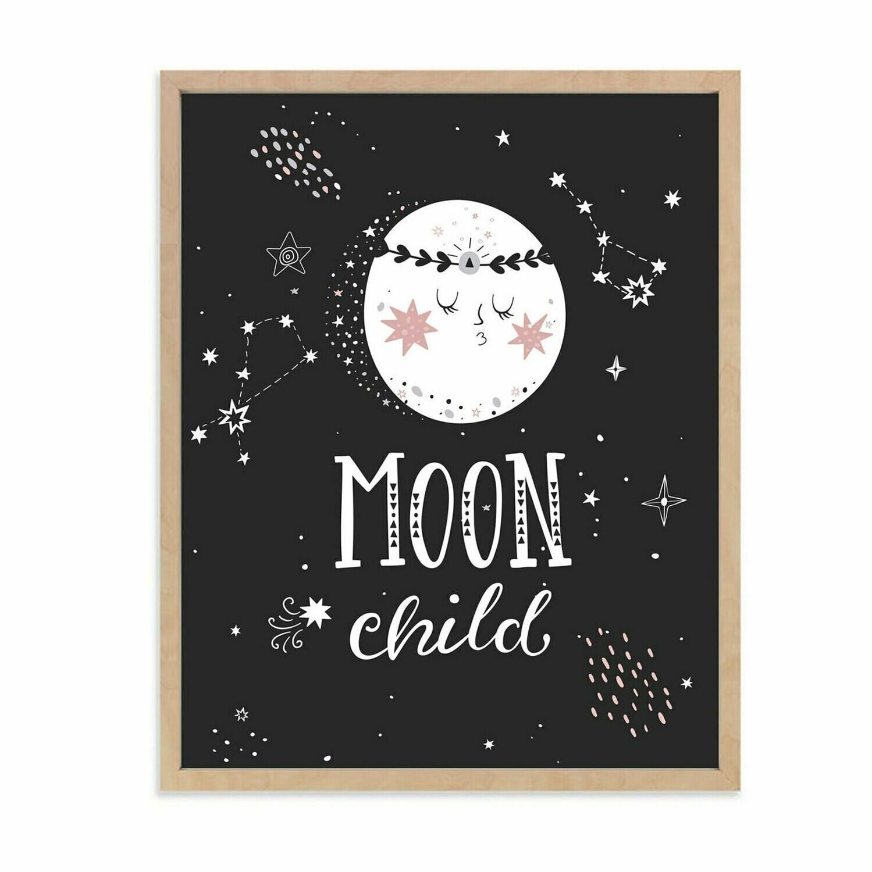 Full Moon Child Wall Art DIGITAL DOWNLOAD PRINT