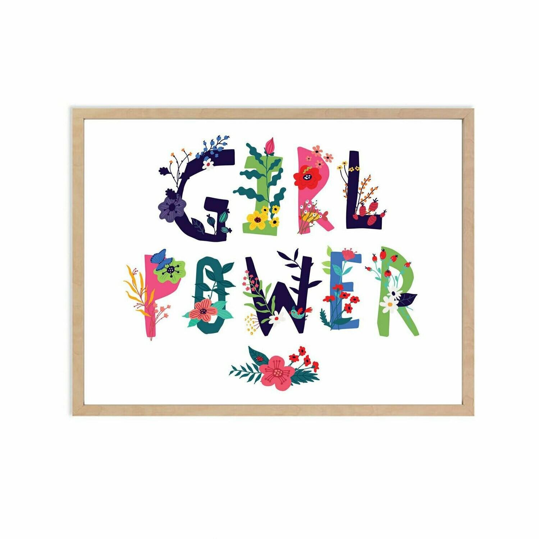 Girl Power Wall Art DIGITAL DOWNLOAD PRINT