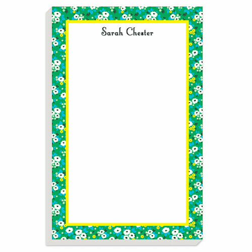 Bright Lime Posies Notepad