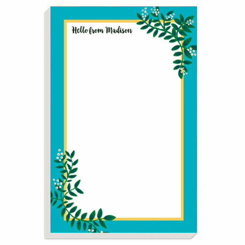 Turquoise Berries Notepad