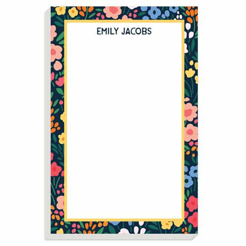 Fairy Garden Floral Notepad
