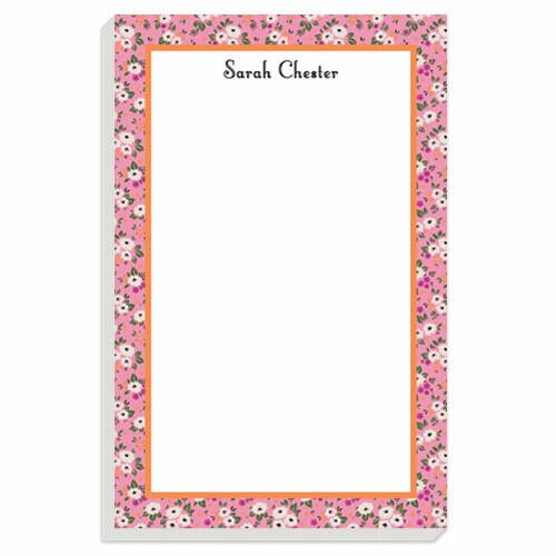 Bright Pink Posies Notepad