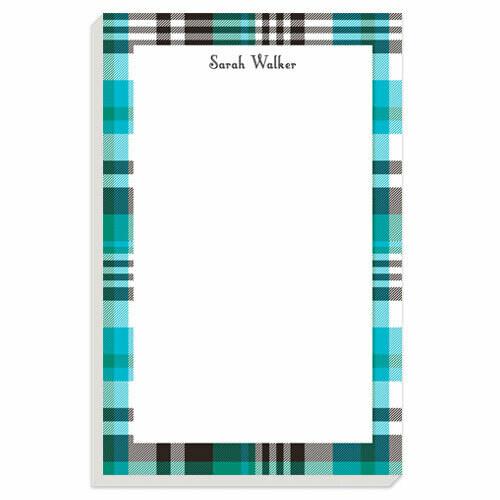 Blue Plaid Notepad
