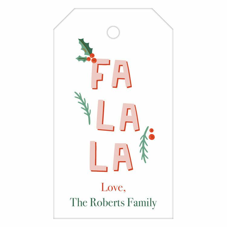 Fa La La Hanging Gift Tag