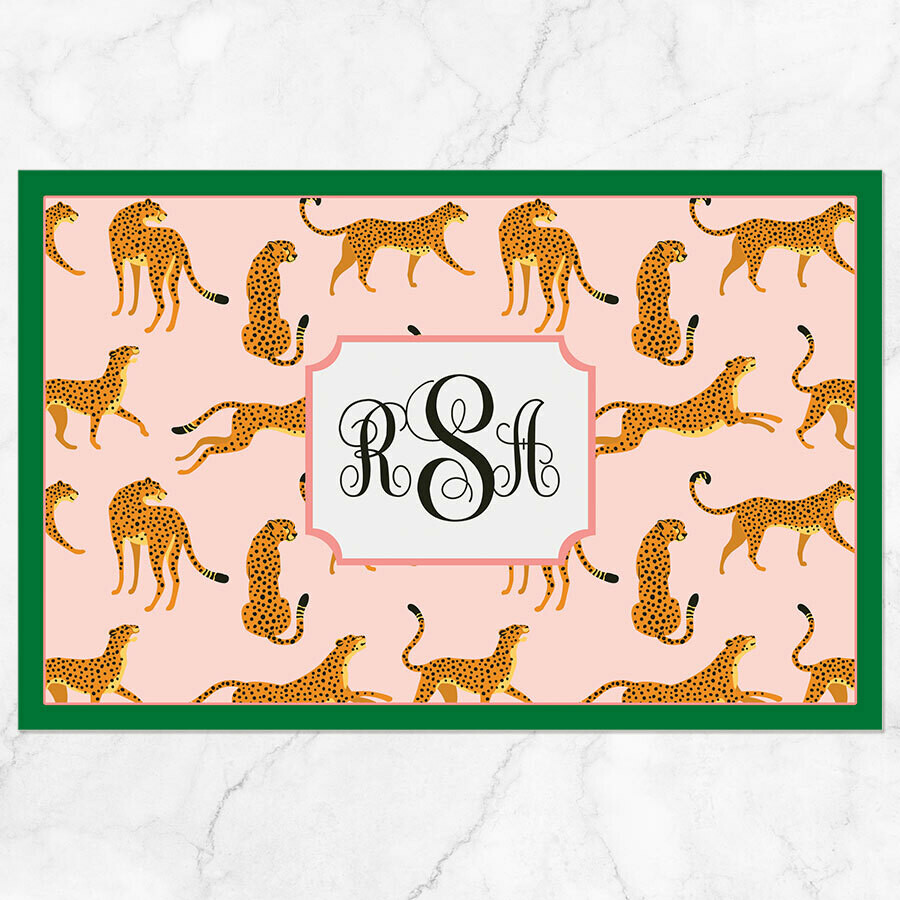 Pink Tigers Placemat - Paper or Laminated