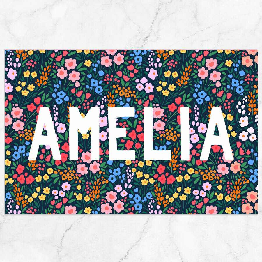 Garden Name Placemat - Paper or Laminated
