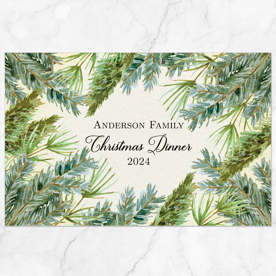 Winter Branches Placemat - Paper or Laminated