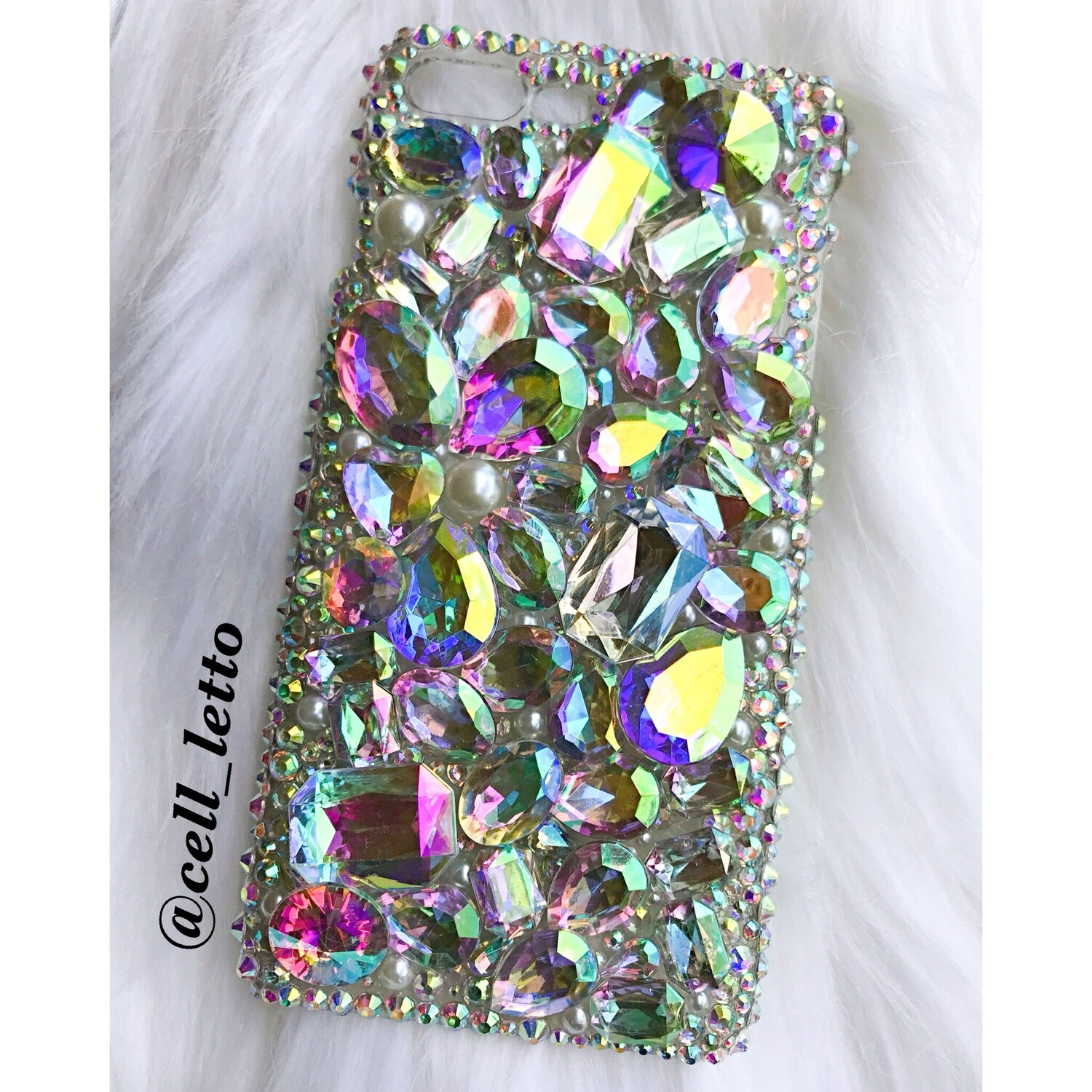 Large Gem Design Phone Case