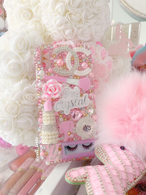 Pink & Silver Design Phone Case