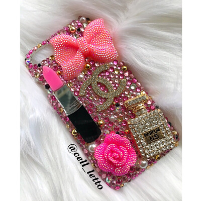Pink Designer-Inspired Phone Case