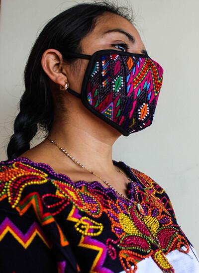 Hand-Woven & Huipil Fabric Face Masks - Medium - Set of 3