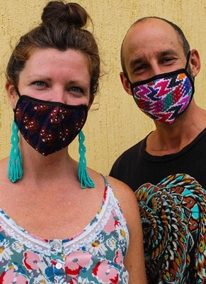 Hand-Woven & Huipil Fabric Face Masks - Adult - Set of 3