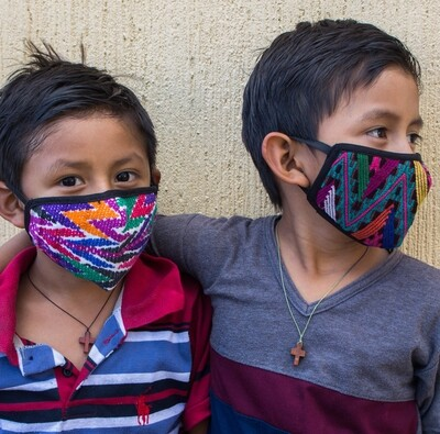 Hand-Woven & Huipil Fabric Face Masks - Child - Set of 3