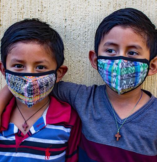 Jaspe Fabric Face Masks - Child - Set of 3
