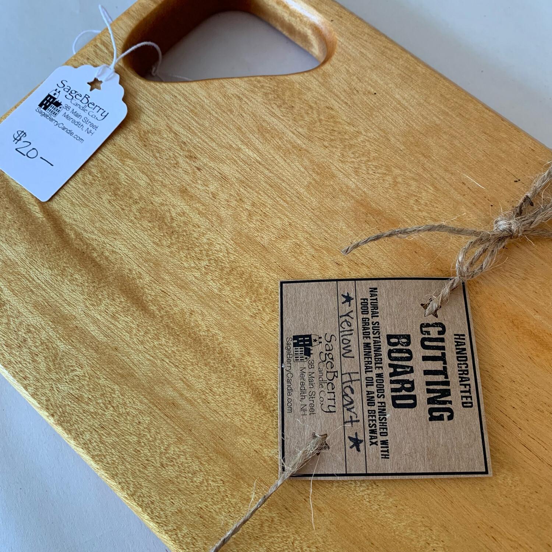 Yellow Heart Cutting Board