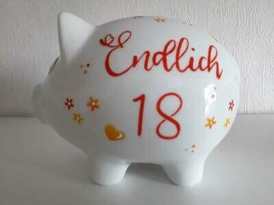 Sparschwein Endlich 18