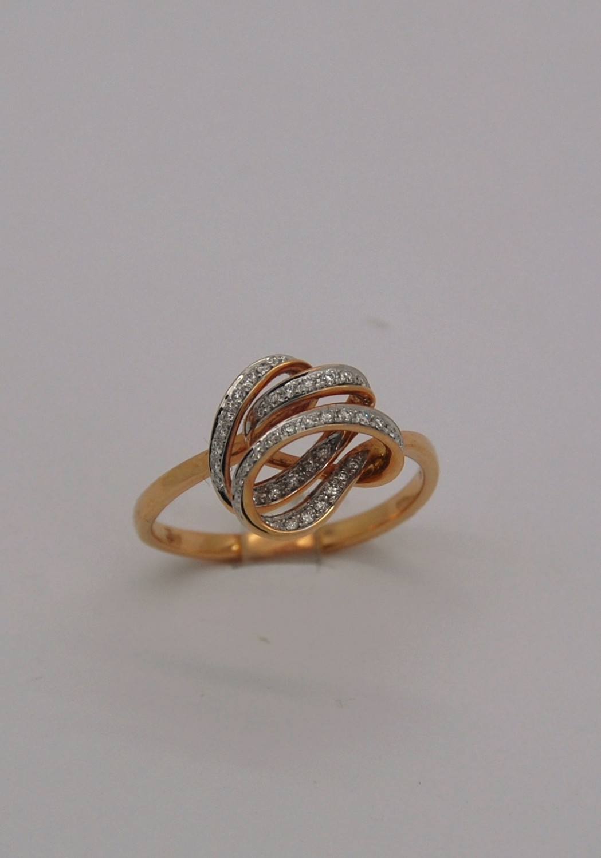 SWIRLS Rose Gold W/Diam