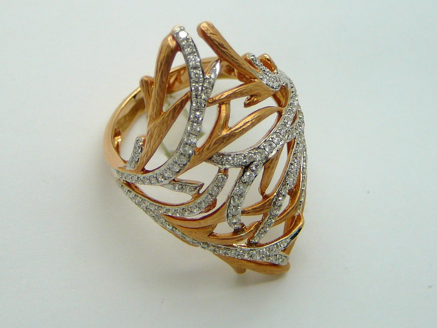 BRANCHES ON ROSE GOLD W/ DIA.