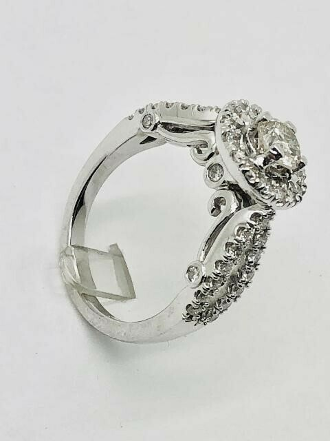 CROSS SIDES ENGAGEMENT RING