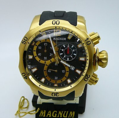 MAGNUM Oversized Chrono, Black & Gold, 3 Subdials