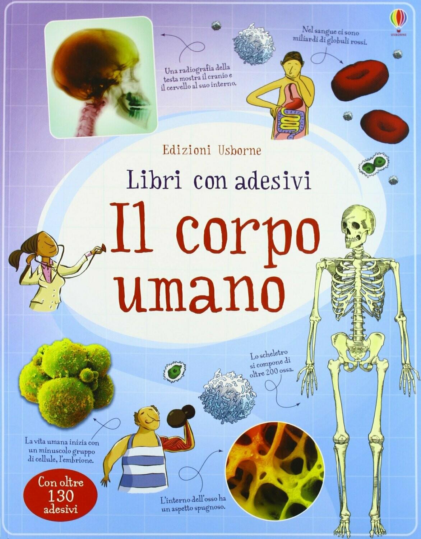 Il corpo umano con adesivi