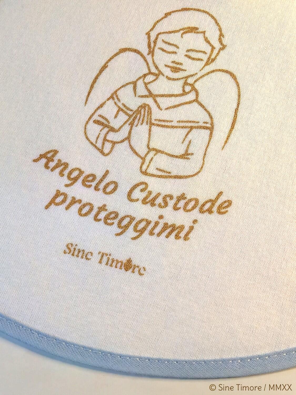 Bavaglino Angelo Custode colore azzurro