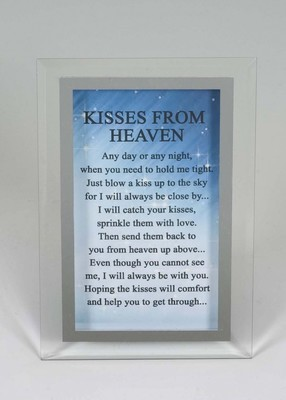 Kisses From Heaven mirror glass memorial plaque