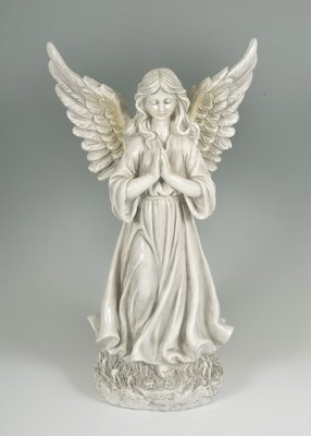 Large size standing angel memorial figurine