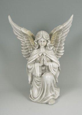 Kneeling praying angel memorial figurine