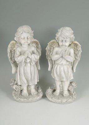 2 assorted large praying cherubs
